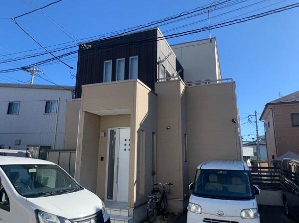 群馬県前橋市 G様邸 外壁塗装・付帯部塗装 施工前の状態 チョーキング現象 (5)