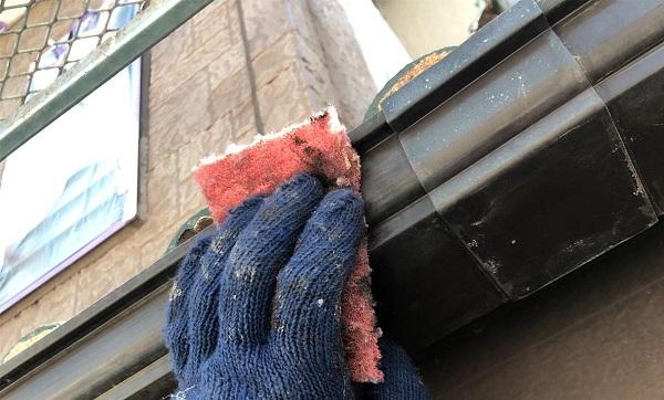 群馬県前橋市 K様邸 屋根塗装・外壁塗装・付帯部塗装 軒天、破風板、雨樋、モールの塗装 ジョンキングNAD (11)