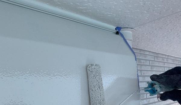 群馬県高崎市 I様邸 外壁塗装・付帯部塗装 シャッターボックス、水切り板金塗装 手順 (3)