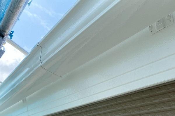 群馬県前橋市 G様邸 外壁塗装・付帯部塗装 雨樋の塗装 縦樋、軒樋 (1)