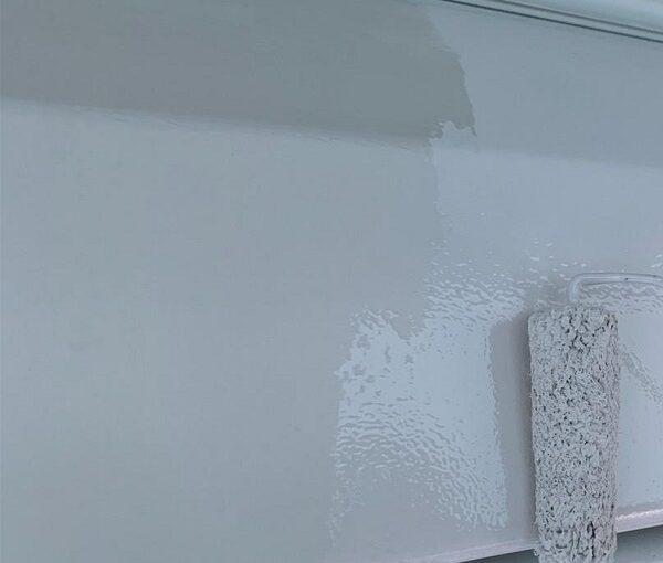 群馬県高崎市 I様邸 外壁塗装・付帯部塗装 シャッターボックス、水切り板金塗装 手順 (2)