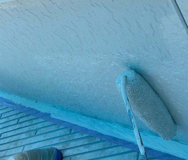 群馬県高崎市 I様邸 外壁塗装・付帯部塗装 軒天塗装 軒天の劣化症状 (1)
