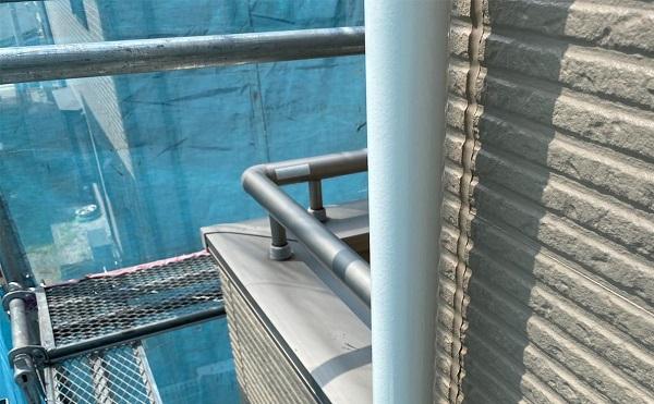 群馬県前橋市 G様邸 外壁塗装・付帯部塗装 雨樋の塗装 縦樋、軒樋 (4)