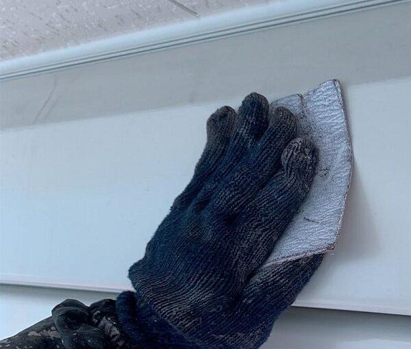 群馬県高崎市 I様邸 外壁塗装・付帯部塗装 シャッターボックス、水切り板金塗装 手順 (4)