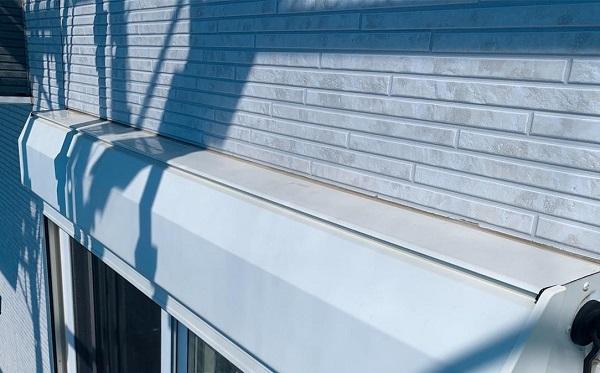 群馬県高崎市 I様邸 外壁塗装・付帯部塗装 シャッターボックス、水切り板金塗装 手順 (7)