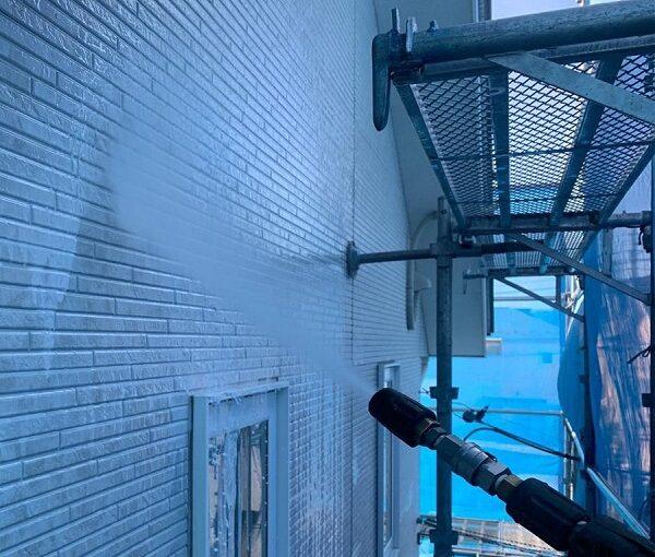 群馬県高崎市 I様邸 外壁塗装・付帯部塗装 足場設置 高圧洗浄 (1)