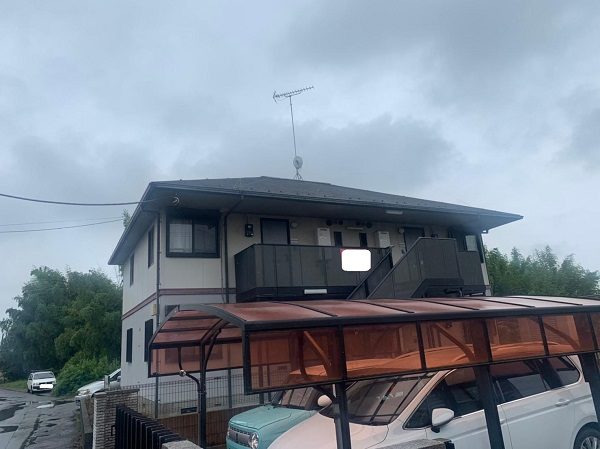 群馬県邑楽郡 アパート 屋根塗装・外壁塗装・付帯部塗装 (12)