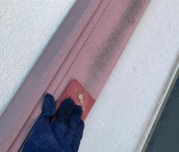 群馬県邑楽郡 アパート 屋根塗装・外壁塗装・付帯部塗装 幕板、隔板塗装 (2)