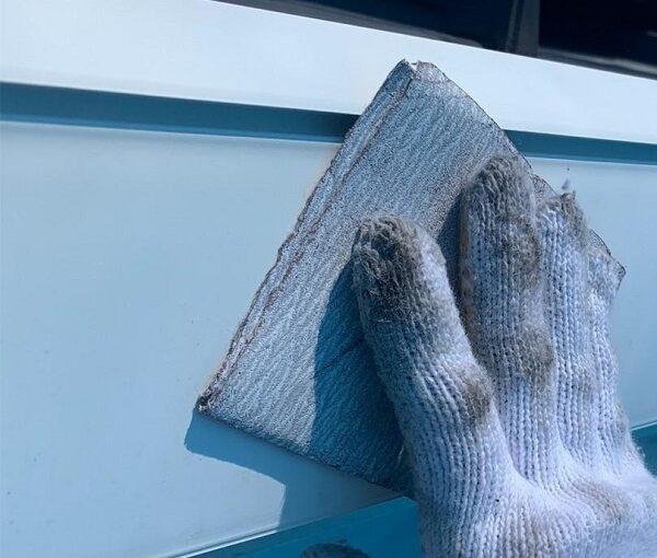 群馬県高崎市 I様邸 外壁塗装・付帯部塗装 雨樋、破風板、鼻隠し塗装 ケレン作業とは (2)
