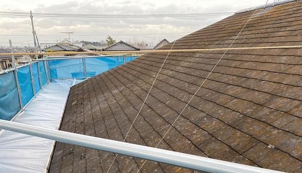 群馬県邑楽郡 アパート 屋根塗装・外壁塗装・付帯部塗装 施工前の状態 劣化症状 (4)