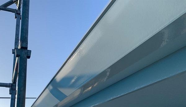 群馬県高崎市 I様邸 外壁塗装・付帯部塗装 雨樋、破風板、鼻隠し塗装 ケレン作業とは (10)