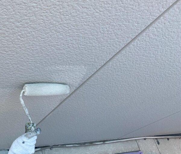 群馬県邑楽郡 アパート 屋根塗装・外壁塗装・付帯部塗装 軒天の塗装 目荒らし (8)