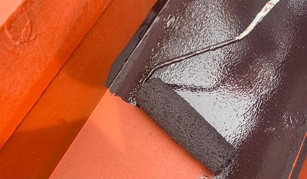 群馬県前橋市 K様邸 屋根塗装・外壁塗装・付帯部塗装・防水工事 ドブ板塗装 庇塗装 (9)