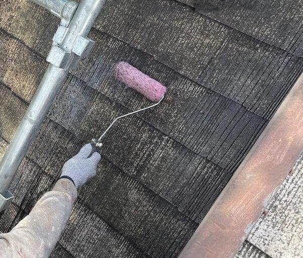 群馬県渋川市 I様邸 屋根塗装・付帯部塗装 タスペーサー01 屋根下塗り (15)
