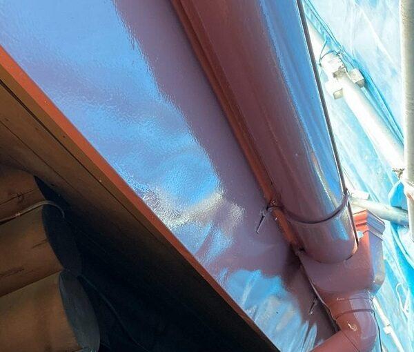 群馬県渋川市 I様邸 屋根塗装・付帯部塗装 雨樋、破風塗装 ケレン作業 (5)