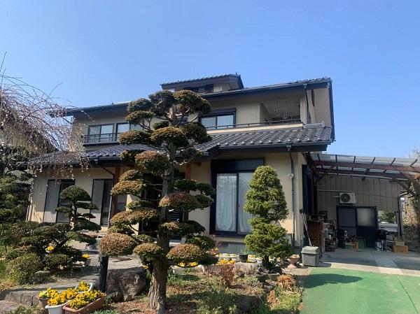 群馬県渋川市 S様邸 外壁塗装・付帯部塗装 (1)