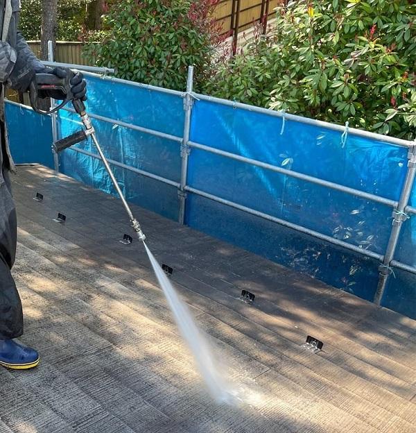 群馬県渋川市 I様邸 屋根塗装・付帯部塗装 高圧洗浄 ひび割れ補修 (5)
