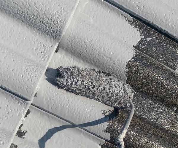 群馬県前橋市 K様邸 屋根塗装・外壁塗装・付帯部塗装・防水工事 ガイソールーフガードネオ無機 シーラーストロング (5)