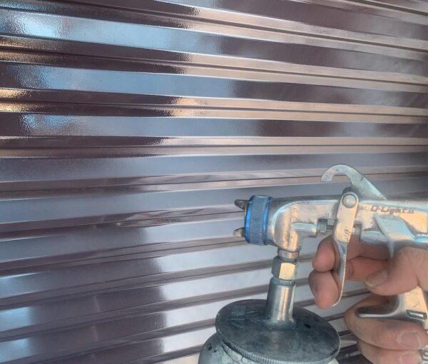 群馬県前橋市 K様邸 屋根塗装・外壁塗装・付帯部塗装・防水工事 雨戸塗装 吹き付け工法 (4)
