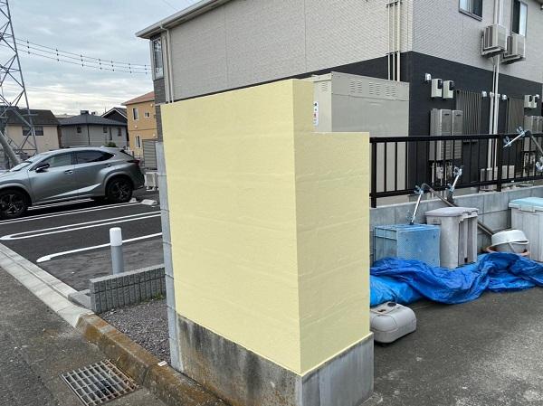 群馬県前橋市 K様邸 屋根塗装・外壁塗装・付帯部塗装・防水工事 塀、軒天塗装 ジョンキングNAD (4)