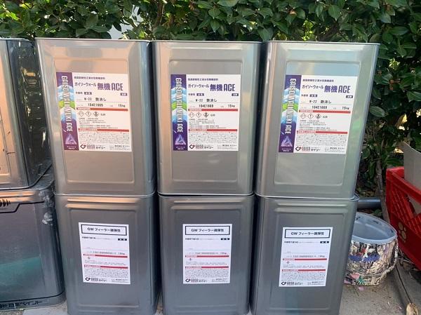 群馬県渋川市 S様邸 外壁塗装・付帯部塗装 ガイソーウォール無機ACE GWフィーラー微弾性 (2)