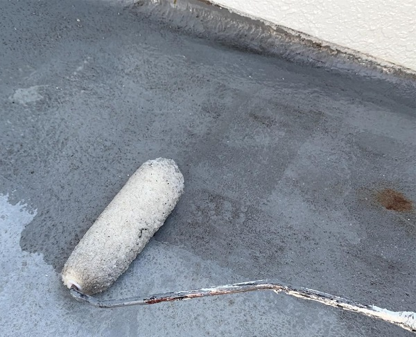 群馬県前橋市 K様邸 屋根塗装・外壁塗装・付帯部塗装・防水工事 ベランダ防水 トップコート塗り替え (2)