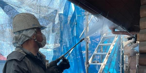 群馬県渋川市 I様邸 屋根塗装・付帯部塗装 高圧洗浄 ひび割れ補修 (4)