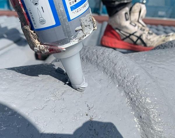 群馬県前橋市 K様邸 屋根塗装・外壁塗装・付帯部塗装・防水工事 ガイソールーフガードネオ無機 シーラーストロング (6)
