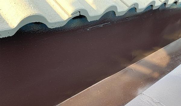群馬県前橋市 K様邸 屋根塗装・外壁塗装・付帯部塗装・防水工事 ドブ板塗装 庇塗装 (2)
