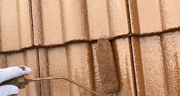 群馬県桐生市 I様邸 屋根塗装・外壁塗装 棟瓦の釘補強 ガイソールーフガードシリコン シーラーセメント (3)