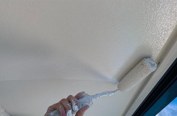 群馬県前橋市 N様邸 外壁塗装・防水工事 軒天塗装 庇塗装 (11)
