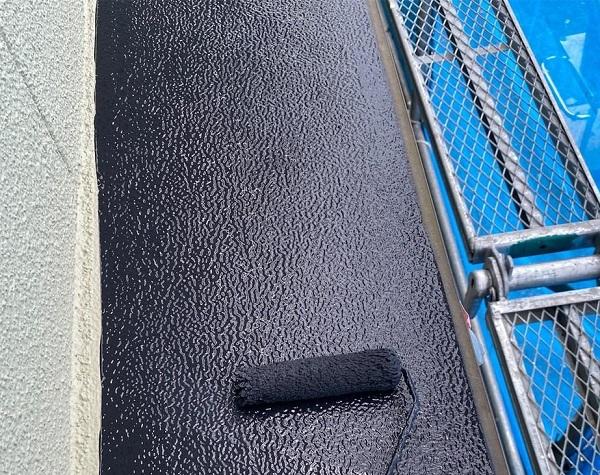 群馬県前橋市 N様邸 外壁塗装・防水工事 軒天塗装 庇塗装 (3)