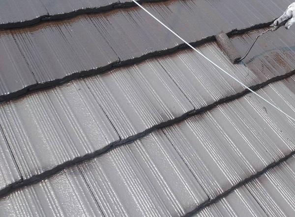 群馬県伊勢崎市 W様邸 屋根塗装・外壁塗装・付帯部塗装 ガイソールーフガード無機 シーラーストロング (8)