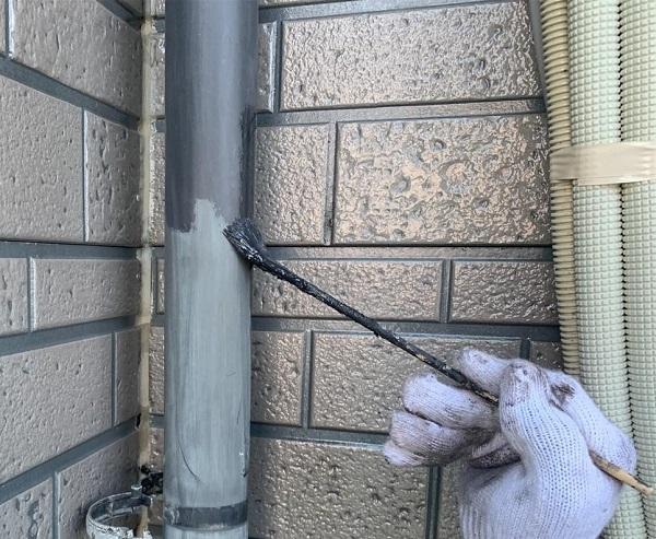 群馬県伊勢崎市 W様邸 屋根塗装・外壁塗装・付帯部塗装 雨樋塗装 軒樋 縦樋 (7)