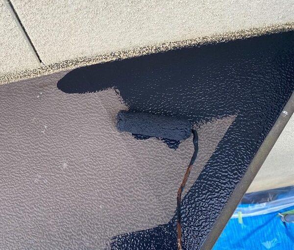 群馬県前橋市 N様邸 外壁塗装・防水工事 軒天塗装 庇塗装 (6)