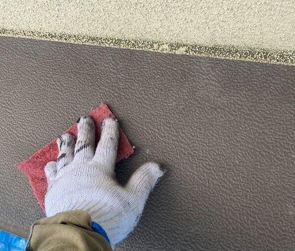 群馬県前橋市 N様邸 外壁塗装・防水工事 軒天塗装 庇塗装 (5)