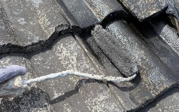 群馬県桐生市 I様邸 屋根塗装・外壁塗装 棟瓦の釘補強 ガイソールーフガードシリコン シーラーセメント (6)