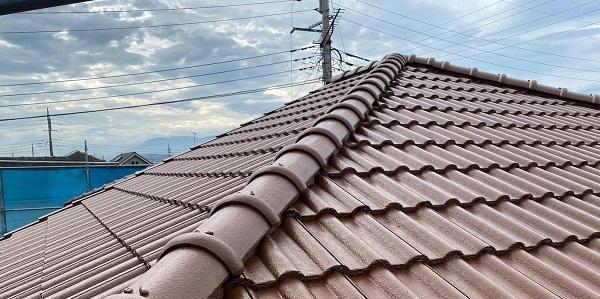 群馬県桐生市 I様邸 屋根塗装・外壁塗装 棟瓦の釘補強 ガイソールーフガードシリコン シーラーセメント (8)