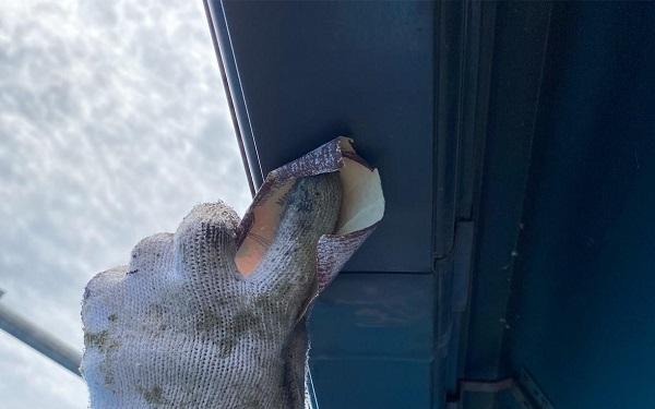 群馬県前橋市 N様邸 外壁塗装・防水工事 雨樋塗装 破風塗装 (9)
