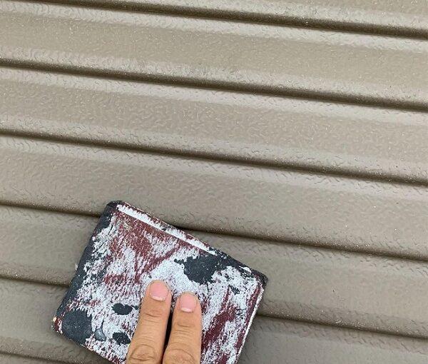 群馬県前橋市 N様邸 外壁塗装・防水工事 雨戸塗装 エアコンカバー塗装 吹き付け工法 (9)