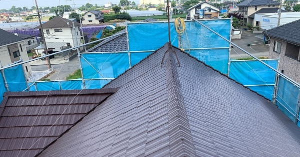 群馬県伊勢崎市 W様邸 屋根塗装・外壁塗装・付帯部塗装 ガイソールーフガード無機 シーラーストロング (2)