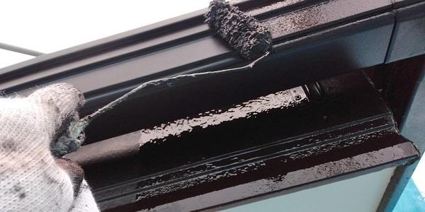 群馬県前橋市 H様邸 外壁塗装・付帯部塗装 鼻隠し、雨樋、エアコンカバー塗装 (7)