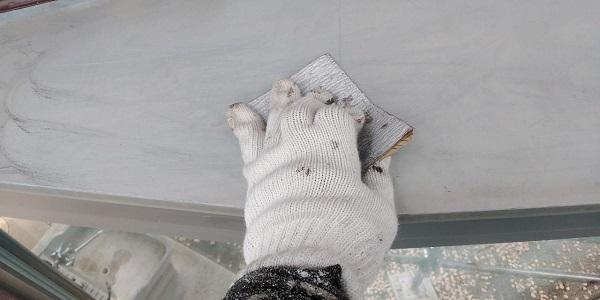 群馬県前橋市 H様邸 外壁塗装・付帯部塗装 出窓の屋、帯板塗装 (2)