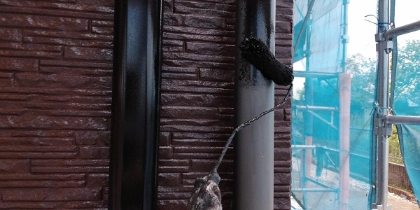 群馬県前橋市 H様邸 外壁塗装・付帯部塗装 鼻隠し、雨樋、エアコンカバー塗装 (5)