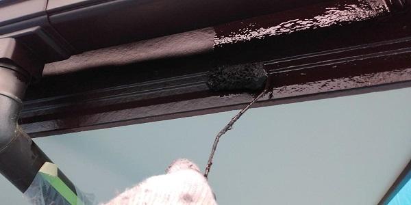 群馬県前橋市 H様邸 外壁塗装・付帯部塗装 鼻隠し、雨樋、エアコンカバー塗装 (6)