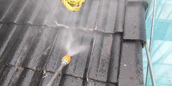 群馬県北群馬郡吉岡町 T様邸 屋根塗装・外壁塗装 下地処理 高圧洗浄 (4)