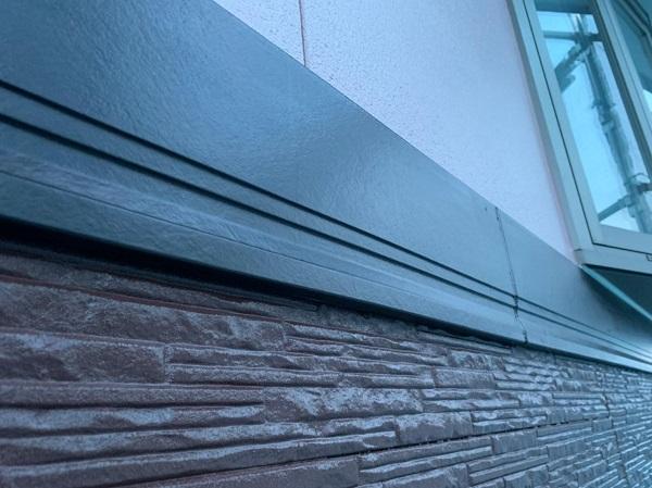 群馬県前橋市 H様邸 外壁塗装・付帯部塗装 出窓の屋、帯板塗装 (5)