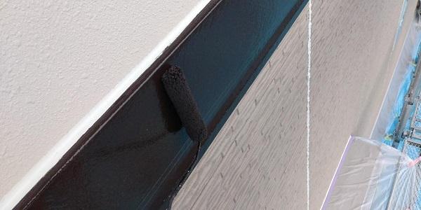 群馬県前橋市 H様邸 外壁塗装・付帯部塗装 出窓の屋、帯板塗装 (8)