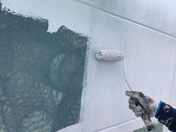 群馬県北群馬郡吉岡町 T様邸 屋根塗装・外壁塗装 パテ補修 ガイソーウォールフッ素4FⅡ GWフィーラー微弾性 (2)