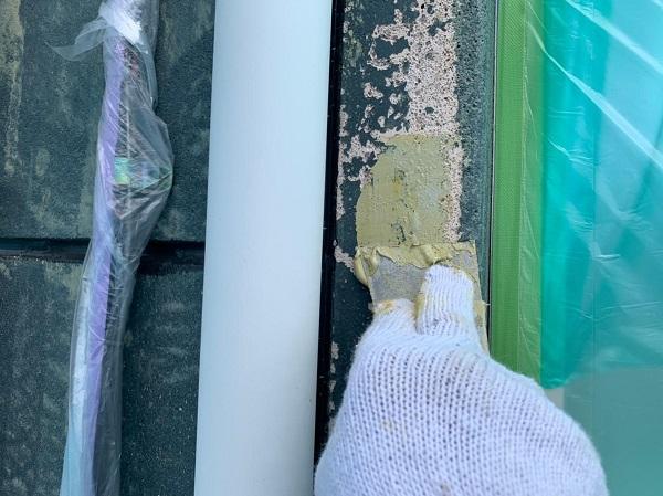 群馬県北群馬郡吉岡町 T様邸 屋根塗装・外壁塗装 パテ補修 ガイソーウォールフッ素4FⅡ GWフィーラー微弾性 (3)